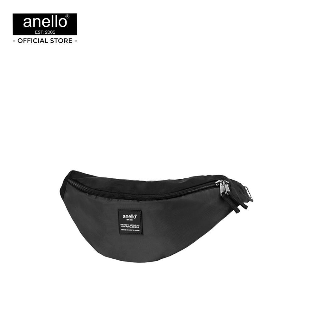 B Bag anello กระเป๋าคาดเอว Regular O.S. MIX Waist Bag PL_OS-N010 - BLACKกระเป๋าคาดอกผู้ชาย  กระเป๋าผู้ชายคาดอก