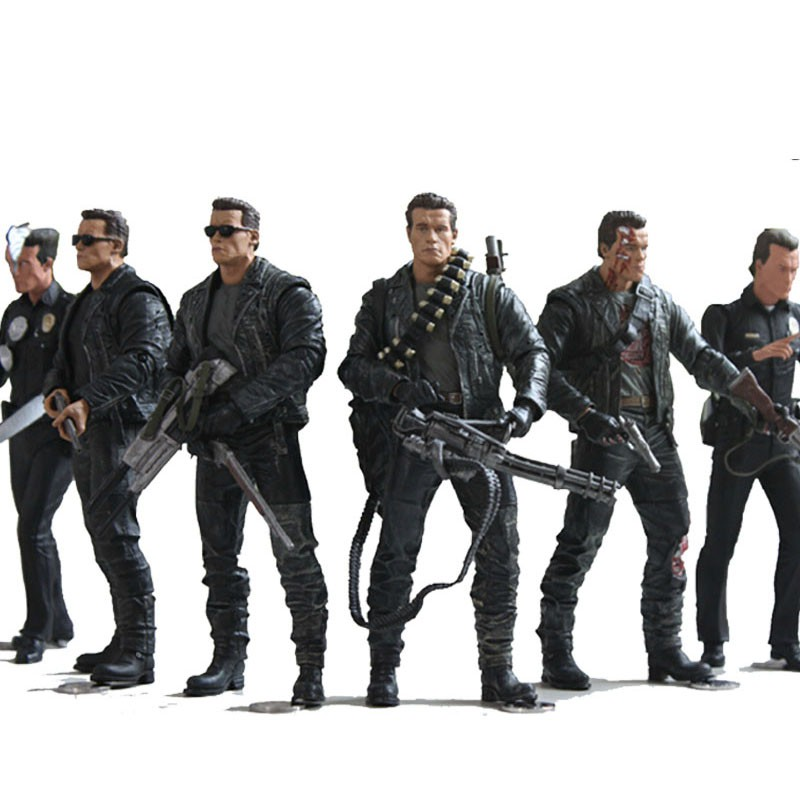 NECA The Terminator 2 Action Figure T800 / T1000 VC Action Figure Toy Model Toy 7 Tyes 18cm