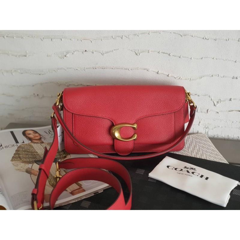 (ผ่อน0%) กระเป๋า สะพายข้าง หนังแท้ สีแดง Coach Tabby Shoulder Bag 26 Style No.73995 B4/Red Apple งานshop
