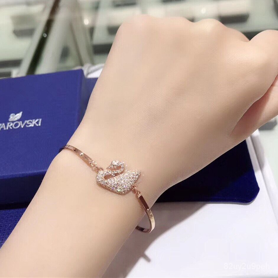 สร้อยข้อมือหญิงSwarovski Elementsคริสตัลคลาสสิกปรับสร้อยข้อมือเพชรหงส์สร้อยข้อมือเพื่อส่งแฟนสาวของเขาเป็นของขวัญ