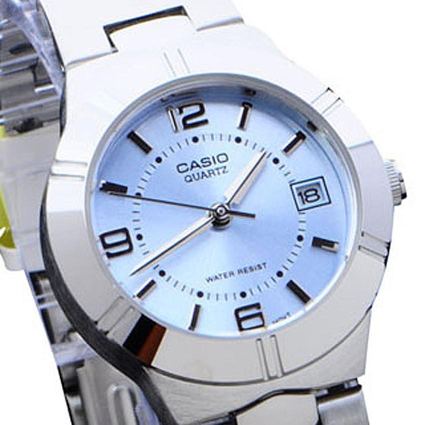 Casio Standard นาฬิกาข้อมือผู้หญิง สายสแตนเลส รุ่น LTP-1241D-2ADF - เรือนเหล็ก/หน้าฟ้า