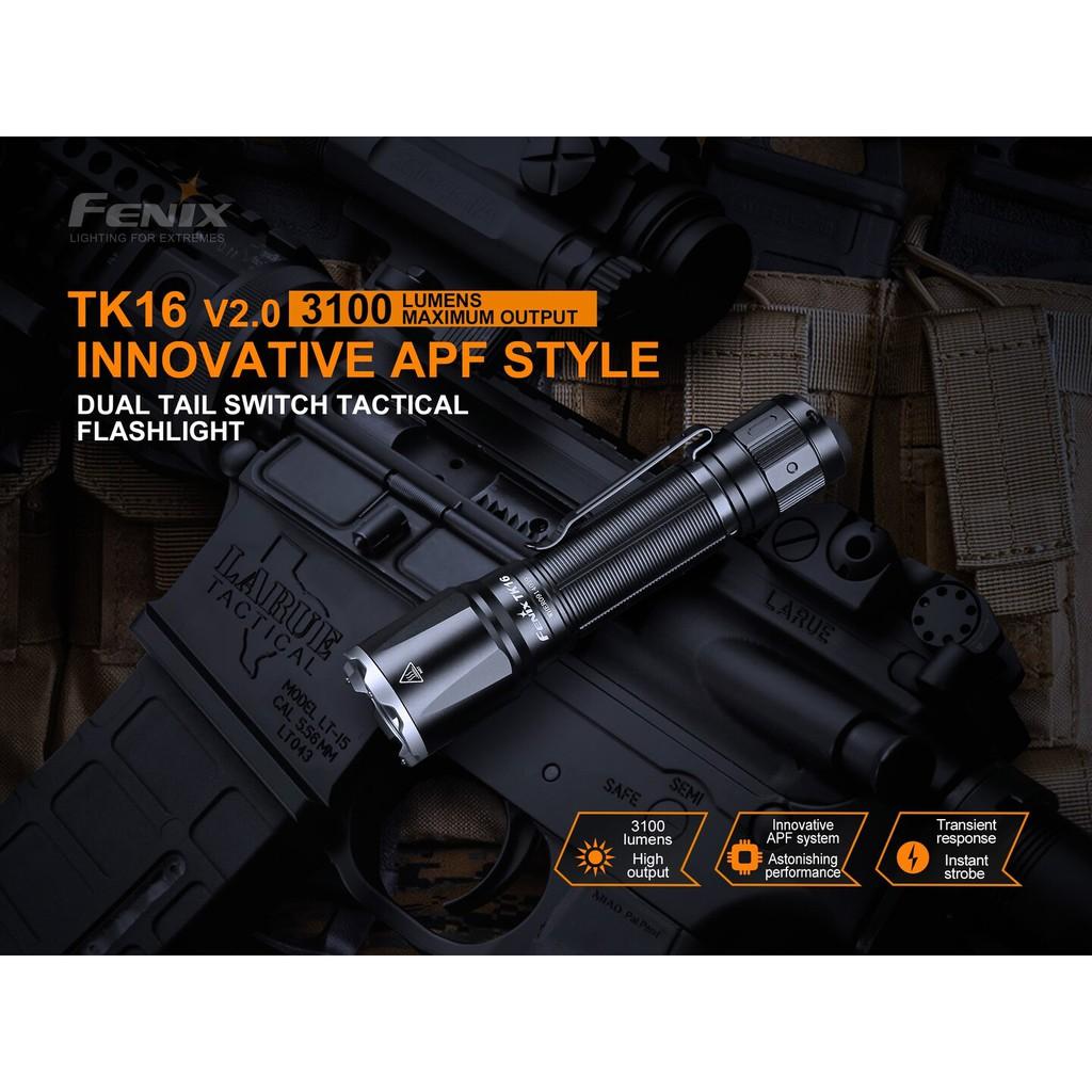 ไฟฉาย Fenix TK16 V2.0 DUAL TAIL SWITCH TACTICAL FLASHLIGHT