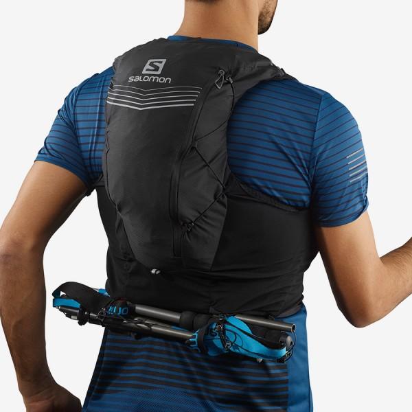 Salomon Ebony Adv Skin 12 ชุดกระเป๋าเป้สะพายหลังเหมาะกับการพกพาเดินทางเดินป่า