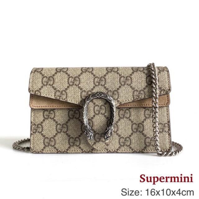 Gucci Dionysus supermini รูดผ่อน 0% ไม่มีค่าธรรมเนียมเพิ่มเติมของแท้ 100%