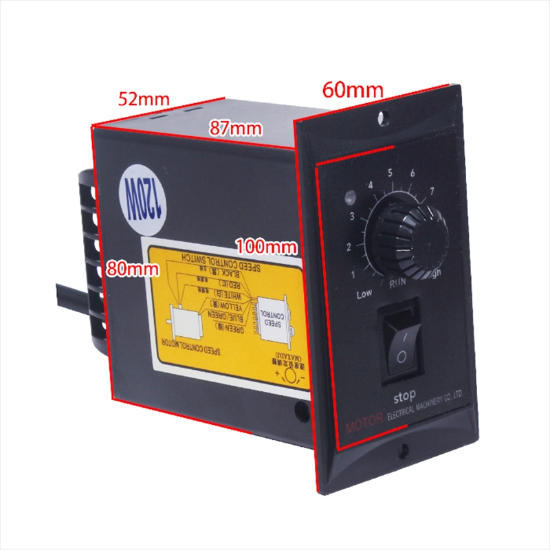 AC Gear Motor Electric Motor Variable Speed Controller 1:10 125RPM 220V 15W