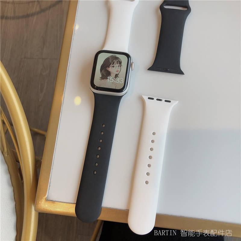 สาย applewatch สายแอปเปิ้ลวอช ปรับให้เข้ากับ iWatch1-6 รุ่น SE ทั่วไปของ Apple Watch ตารางสายลายซิลิโคน Applewatch4 Wild