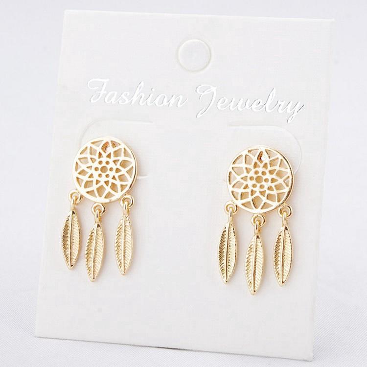 【ลดราคา】Dreamcatcher ทองต่างหู Fashion ต่างหูระย้า