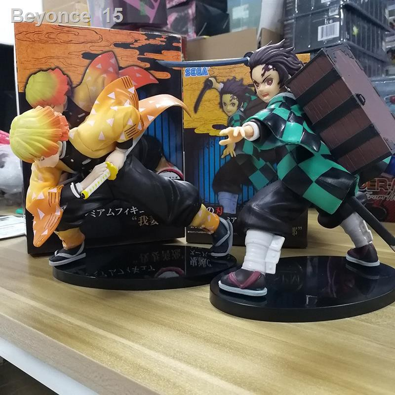 👑Anime Demon Slayer Kimetsu No Yaiba Tanjiro Zenitsu PVC Figure Collectible Model Dolls Kid Toy
