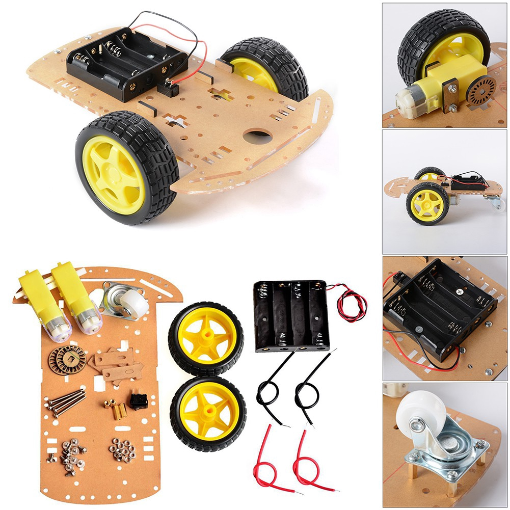 2WD Tracking Smart Robot Car Chassis Kit With Reduction Motor