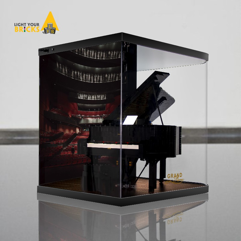 ☁ℂLYB เหมาะสำหรับ Lego 21323 Piano IDEAS series building blocks with light and dust cover acrylic display box