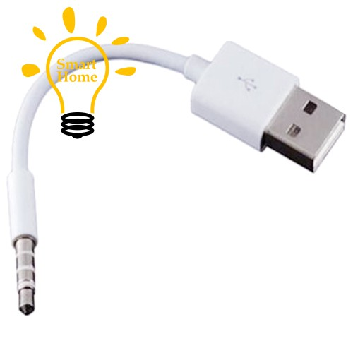 For Apple iPod Shuffle 3rd 4th 5 White USB 2.0 Data Sync Charger Transfer Cable