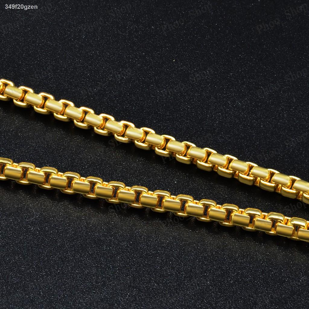 【ลดราคา】◑✾☊Phoo_Shop สร้อยคอสร้อยทองยาว 24 สร้อยคอสร้อยคอทองไม่ลอกไม่ดำทองไมครอนทองชุบทองหุ้ม