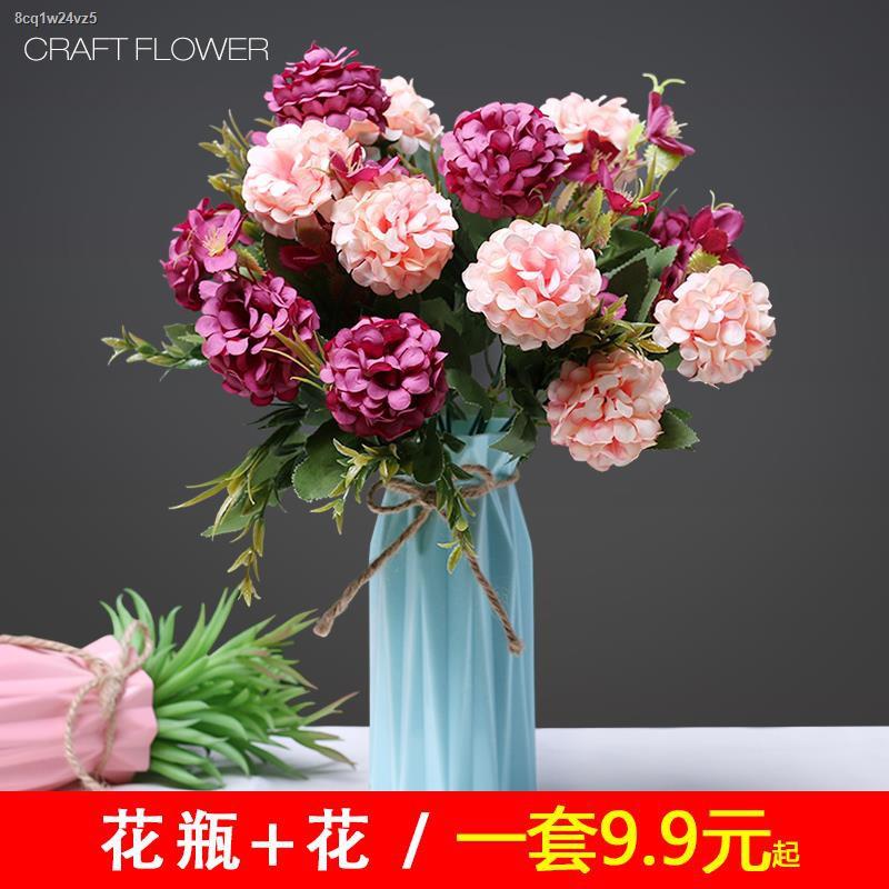 การจำลองพันธุ์ไม้อวบน้ำ☏❧>การตกแต่งห้องนั่งเล่น ดอกไม้ปลอม การจำลองช่อดอกไม้ การตกแต่ง ดอกไม้ ดอกไม้ต่อต้านจริง การจัดโต