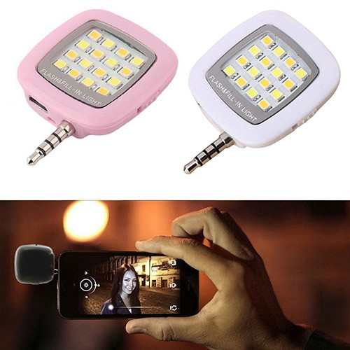 Mini Portable Fill-in Light Selfie 16 LED Camera แฟรช ฃLamp for Android  iPhone