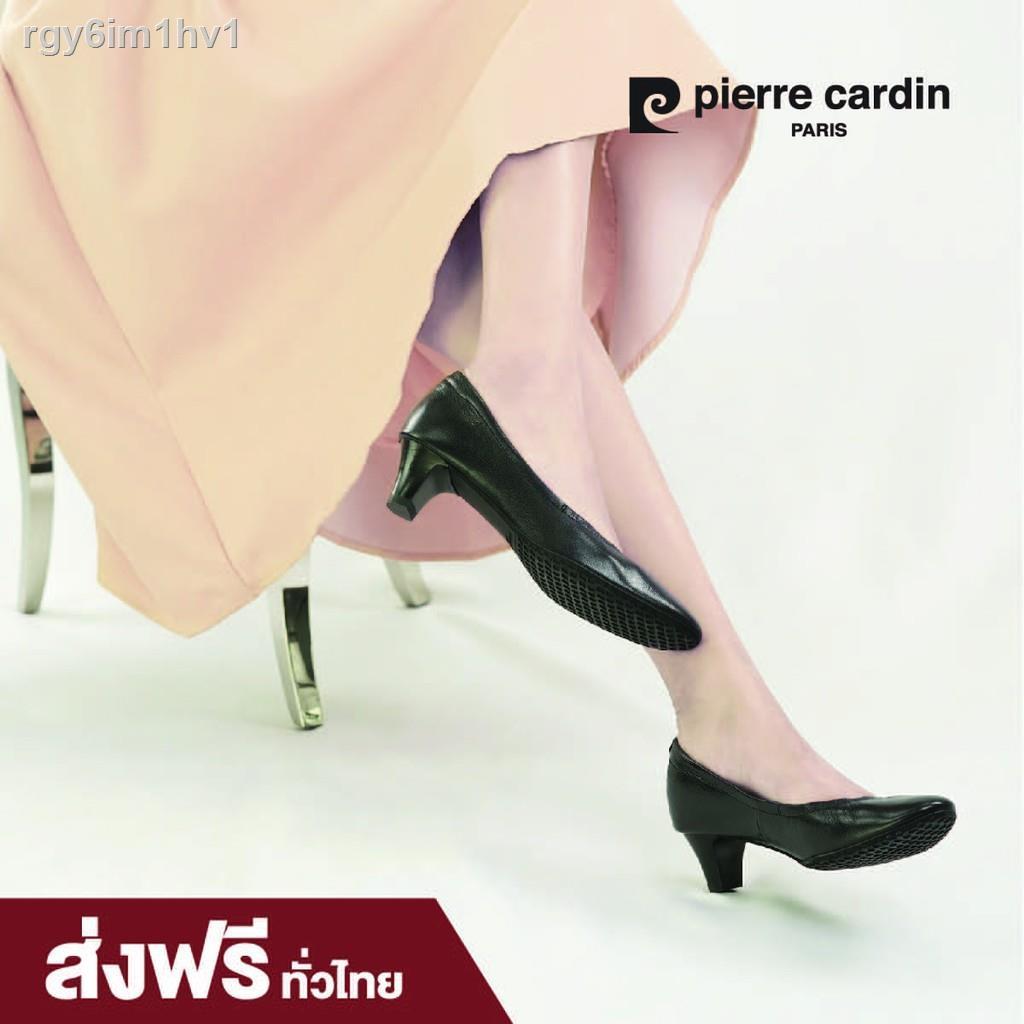 Time limited promotion!❣☏รองเท้าแฟชั่น pierre cardin  shoes  ปิแอร์ การ์แดง รองเท้าผู้หญิง รุ่น 24SD323 รองเท้าคัชชู หนั