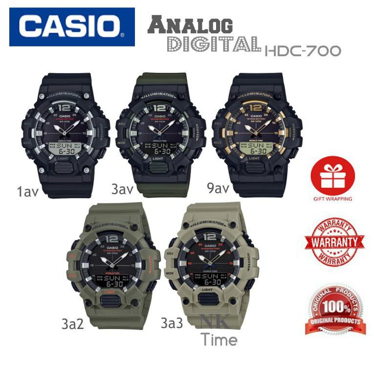 นาฬิกาสปอร์ต    Casio HDC-700 Youth นาฬิกาข้อมืออนาล็อก-ดิจิตอล