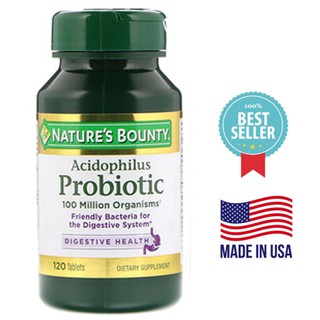 📮พร้อมส่ง🇺🇸Nature's Bounty, Acidophilus Probiotic, 120 Tablets