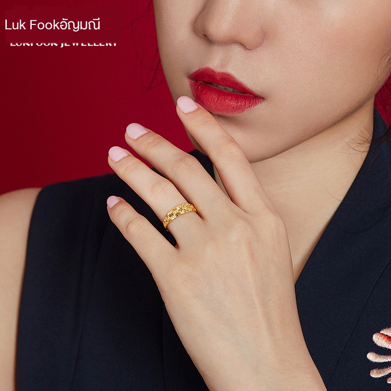 ℗♨Luk Fook เครื่องประดับ Starry Snake แหวนท้องแหวนทองแหวนทองผู้หญิงราคาแหวนสด B01TBGR0020