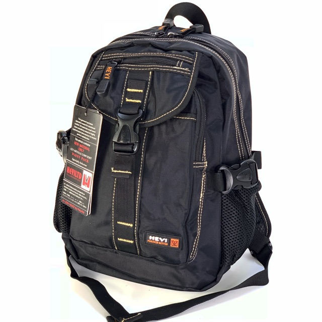 Chinatown Leather กระเป๋าเป้ ผ้า สะพายหลังHeyi สีดำขนาด ใส่ของจุ เดินทางท่องเที่ยว