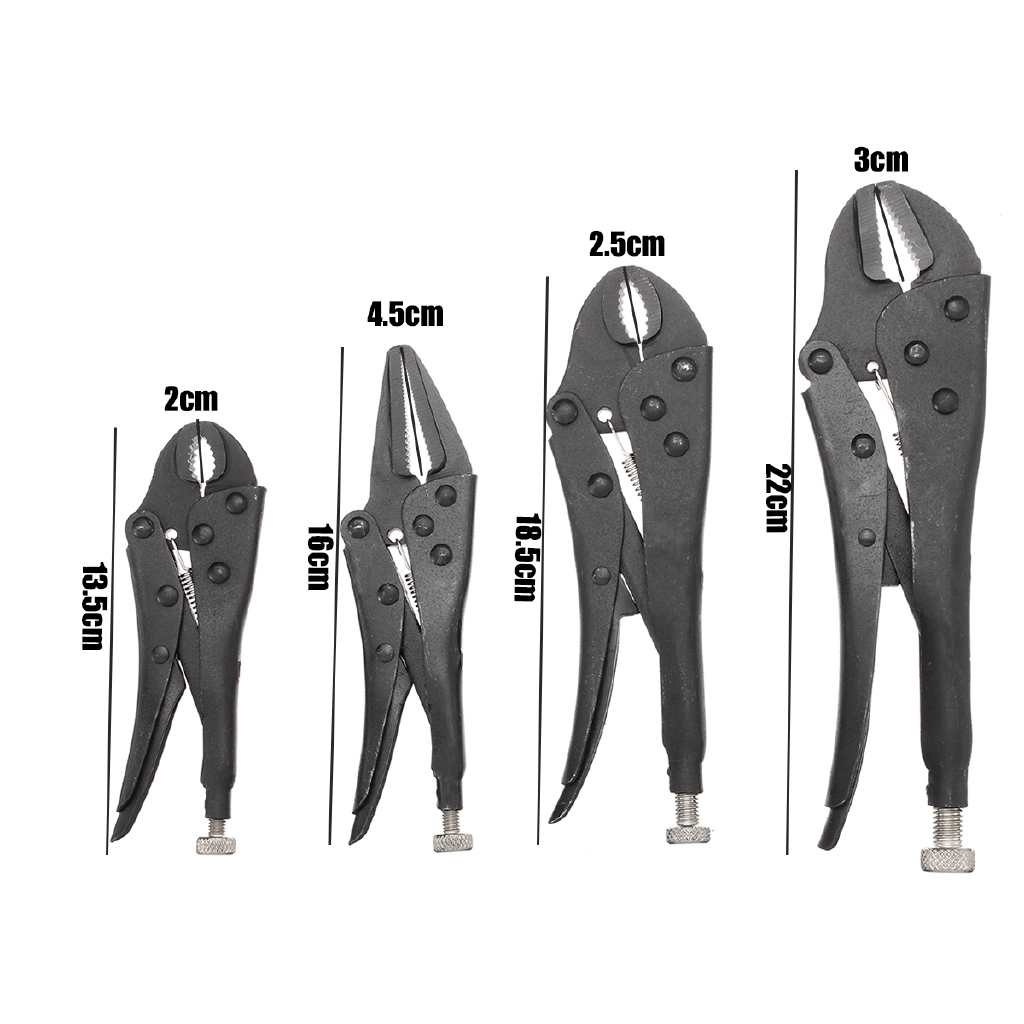 """LARGE 9/"""" LONG NOSE MOLE GRIP Adjustable Straight Lever Locking Grip Pliers Vice"""
