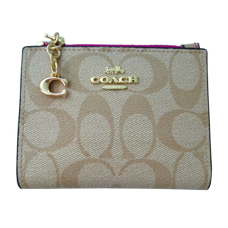 กระเป๋าแท้กระเป๋าตัง Coach กระเป๋าสตางค์กระเป๋าสตางค์ใบสั้น กระเป๋าสตางค์ผู้หญิง Coach