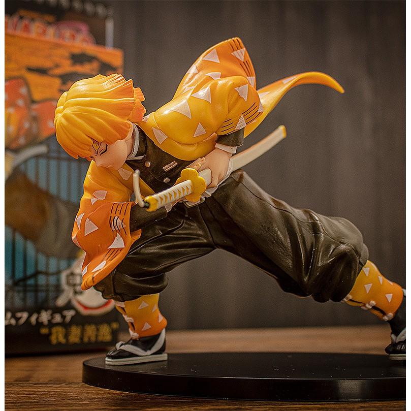 ✔♛โรงงานขายตรง Demon Slayer ภรรยาของฉัน Zenyi Combat Edition Blade Figure Model Decoration