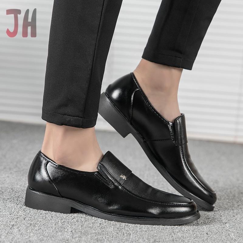 JH✨ รองเท้าโลฟเฟอร์ ผู้ชาย loafer รองเท้า รองเท้าคัชชู รองเท้าหนังแฟชั่น รองเท้าหนังแบบผูกเชือก รองเท้าหนังแท้ 02