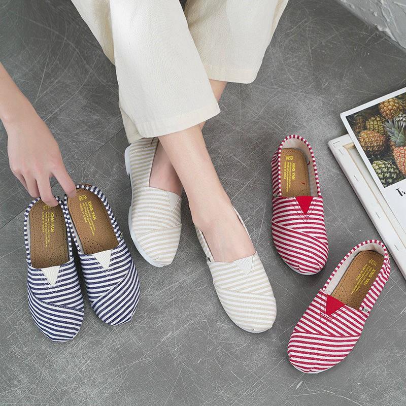 ร้องเท้า รองเท้าผู้หญิง รองเท้าคัชชู ♠รองเท้าเด็ก 2021 ใหม่อเนกประสงค์รองเท้าผ้าใบผู้หญิงเดิม Hysteres ในรองเท้าน้ำรองเท