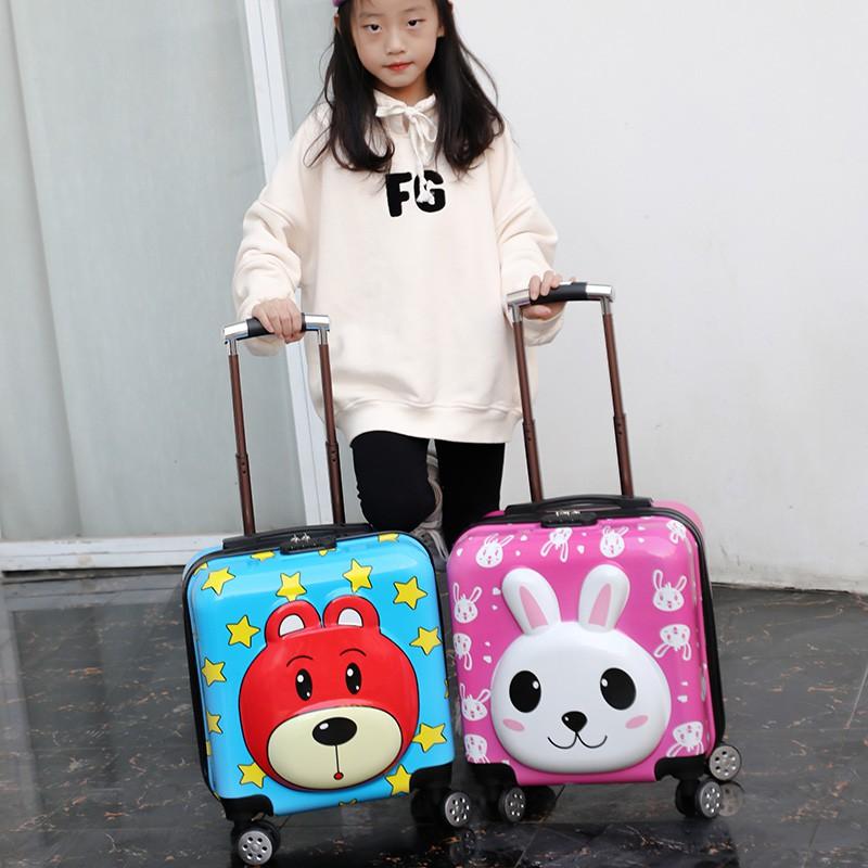 まぃกระเป๋าเดินทางเด็ก  กระเป๋ารถเข็นเดินทาง กระเป๋าเดินทางพกพา กระเป๋าเดินทางหมีสำหรับรถเข็นเด็กขนาด 20 นิ้วสำหรับผู้ชายแ