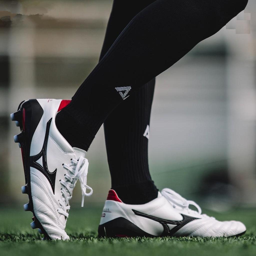 รองเท้าฟุตบอล Mizuno Morelia Neo II ขาวดำ 39-45