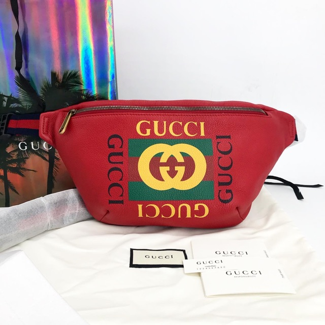 New! Gucci Print Belt bag Size Big