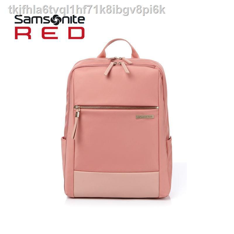 【Lowest price 】✇◆﹍กระเป๋าเป้ Samsonite / กระเป๋าใส่คอมพิวเตอร์ขนาด 14 นิ้วผู้หญิงกระเป๋าเดินทางแฟชั่นน้ำหนักเบา HE7