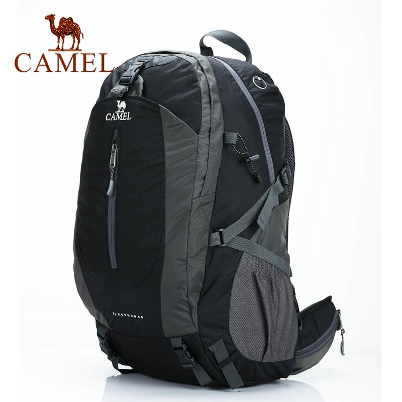 CAMEL กระเป๋าเป้สะพายหลังเดินป่ากลางแจ้ง 40L-50L กระเป๋าเป้สะพายหลังกันน้ำเดินทางกระเป๋าเดินทางความจุขนาดใหญ่