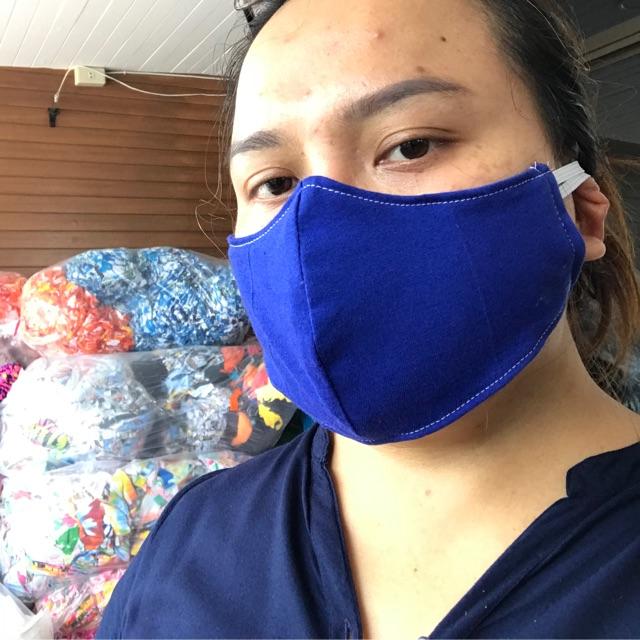 หน้ากากผ้า3D ผ้าปิดจมูก3D ผู้ใหญ่ตัดเย็บ 2 ชั้น 004