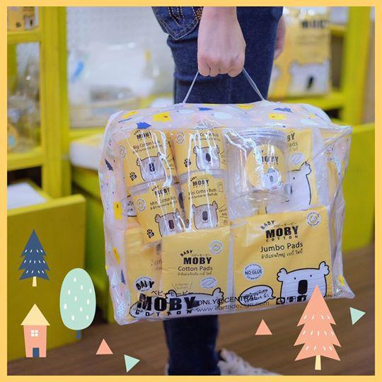 Baby Moby เซตกระเป๋าสำลีสำหรับคุณลูก Newborn Essentials กระเป๋าเยี่ยมคลอด ของขวัญเยี่ยมคลอด