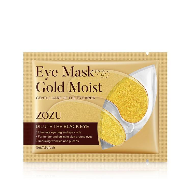 มาร์คตาแผ่นทองคำ Eye Mask Gold Moist สูตรคอลลาเจนทองคำ ลดริ้วรอย รอยตีนกา ลดถุงใต้ตา นทองคำลดริ้วรอยรอยตีนกาลดถุงใต้ตา