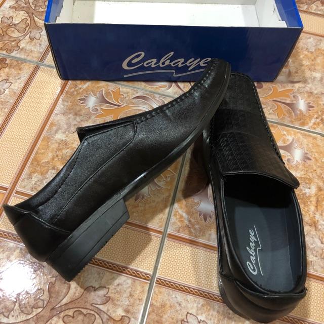 """[ส่งต่อ] Cabaye 44"""" รองเท้าหนังผู้ชาย คัชชูหนังผู้ชาย รองเท้าหนังสีดำ"""