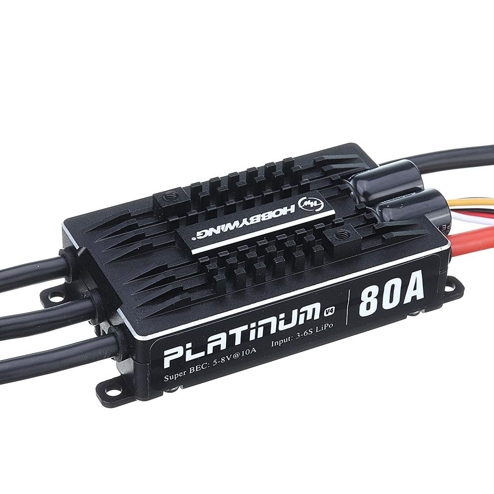 Hobbywing Pro 80a V 4 3 S - 6 S Brushless Esc 8 V 10 A Bec 450-500 Rc อุปกรณ์เสริมของเล่นสําหรับเด็กเฮลิคอปเตอร์