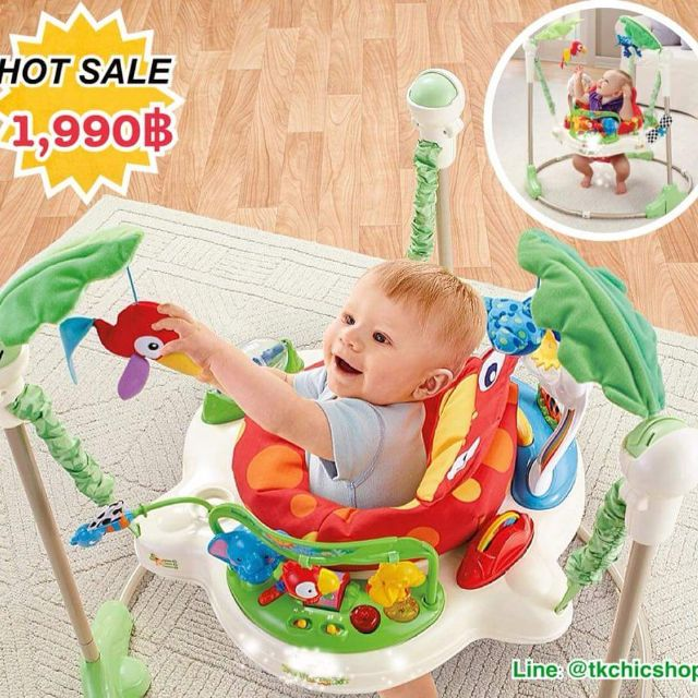 1c74c7436 ใช้ code ลดเพิ่ม 200฿ Jumperoo RainForest (Baby walker) จัมเปอร์กบ ...