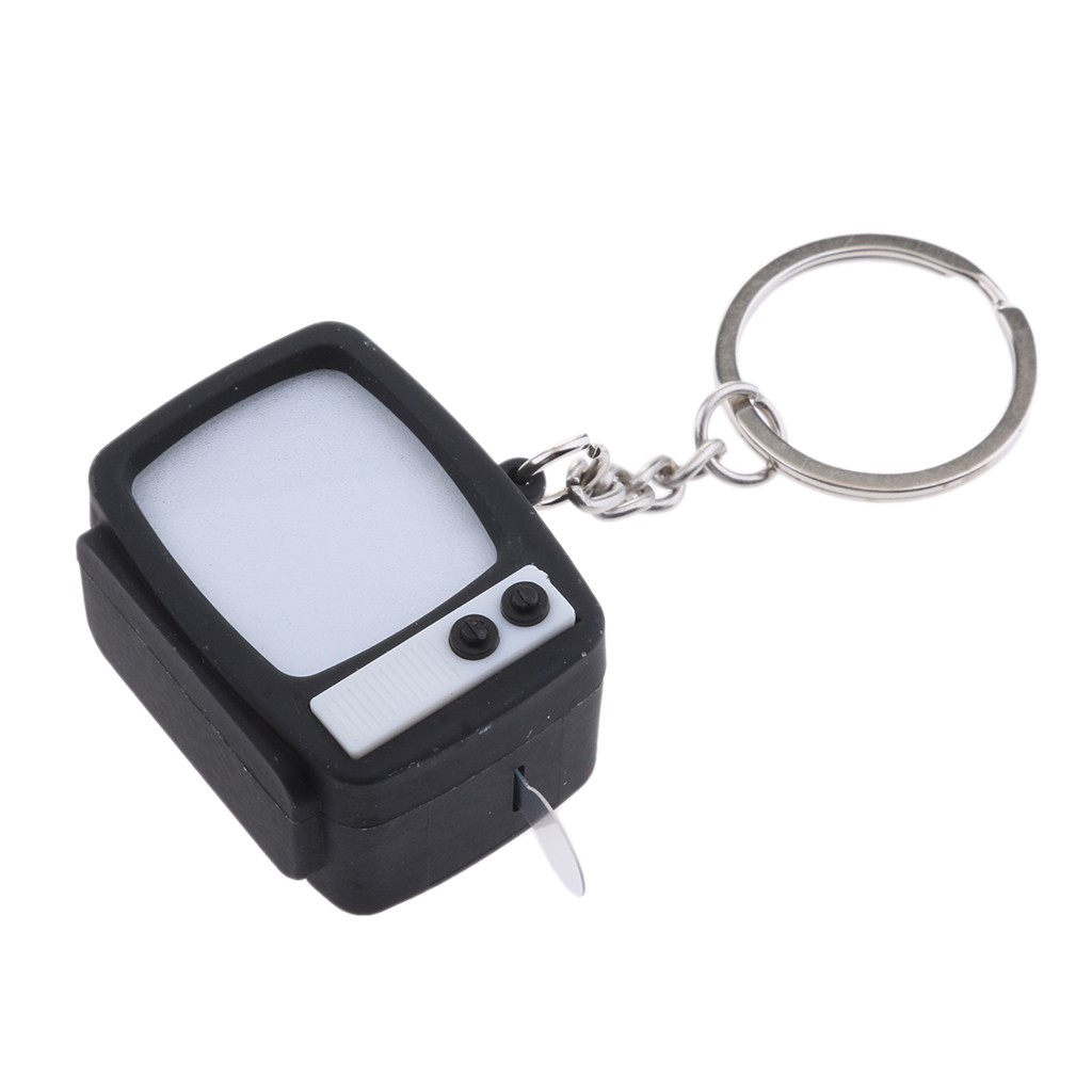 พวงกุญแจรูปทีวีมีไฟ Led ขนาดเล็ก