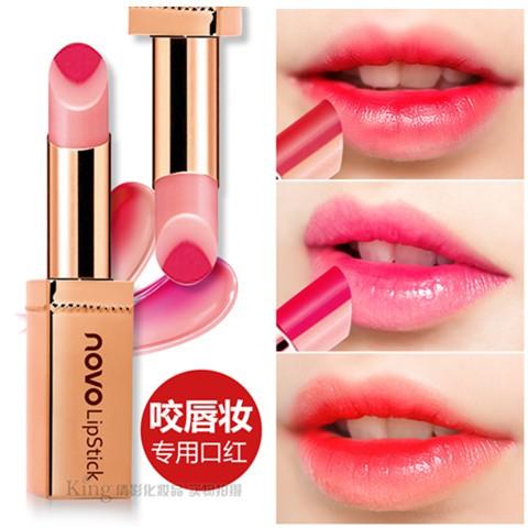 Color แท่งสีทอง ลิปทูโทน ฝาครอบแบบแม่เหล็ก Double โนโว Novo