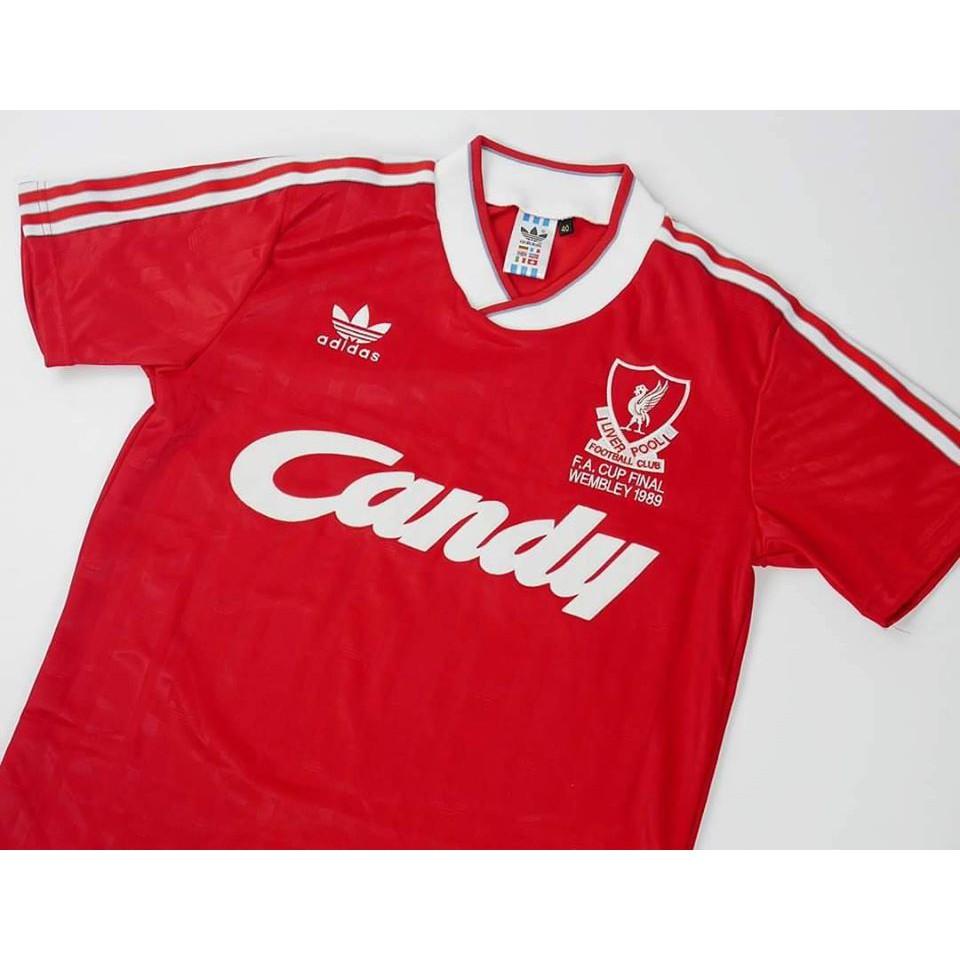 เสื้อฟุตบอล เสื้อกีฬารุ่นเก่า  เสื้อกีฬาแนวคลาสิค ทีมสโมสรลิเวอร์พูล Liverpool Final FA Cup 1989