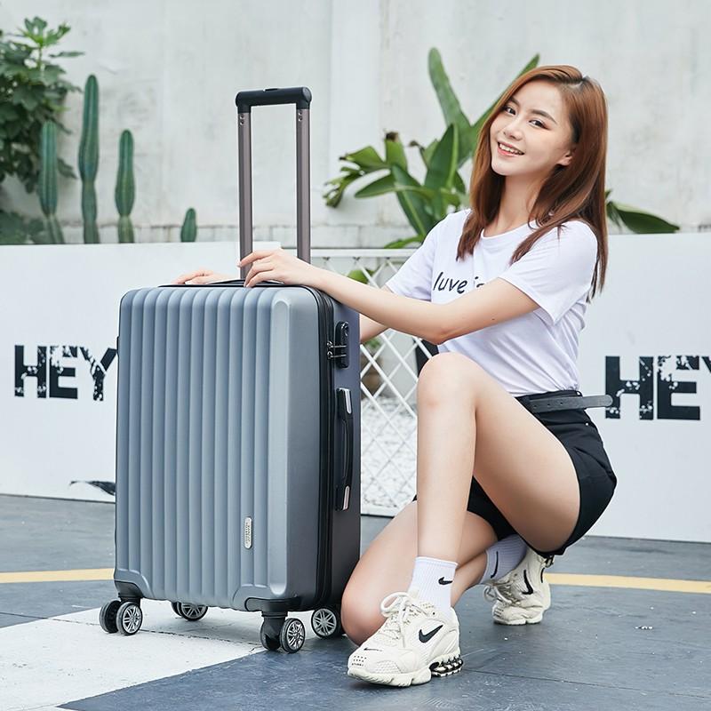 Yongli กระเป๋าเดินทางผู้ชายกระเป๋าเดินทาง-รถเข็นแฟชั่นสไตล์ Lockbox กระเป๋าเดินทางผู้หญิง24นิ้วขนาดเล็ก20-นิ้ว1