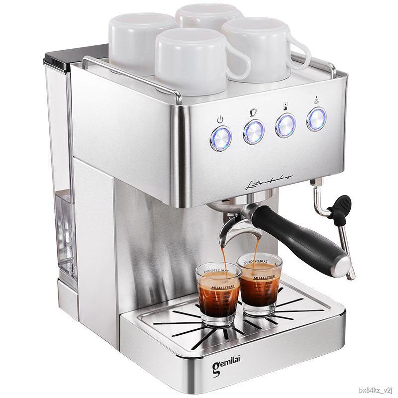 ✈♞❏หน้าแรก เครื่องชงกาแฟเอสเพรสโซ่ กึ่งอัตโนมัติ ควบคุมด้วยมือด้วยไฟฟ้า เครื่องทำฟองนมขนาดเล็ก