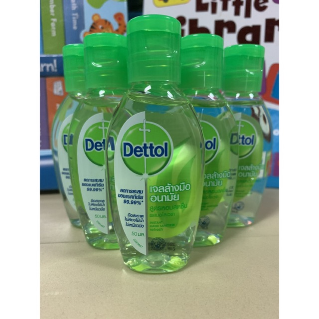 ⚡️พร้อมส่ง⚡️เดทตอล เจลล้างมืออนามัยผสมอโลเวร่า 50 ml (Dettol Instant Hand Sanitizer Gel - Aloe Vera)