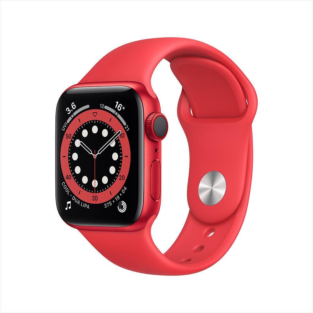 Apple Watch Series 6 นาฬิกาอัจฉริยะ GPS + ตัวเรือนอะลูมิเนียมรังผึ้ง 44 มม