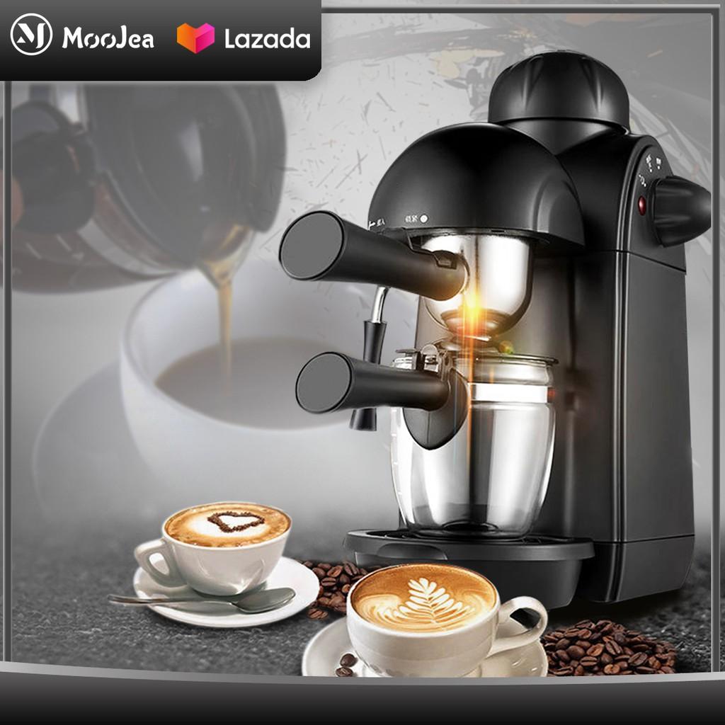 ✹ஐMOOJEA เครื่องชงกาแฟ เครื่องชงกาแฟสด เครื่องทำกาแฟ เครื่องเตรียมกาแฟ อเนกประสงค์ เครื่องชงกาแฟอัตโนมัติ Fresh coffee