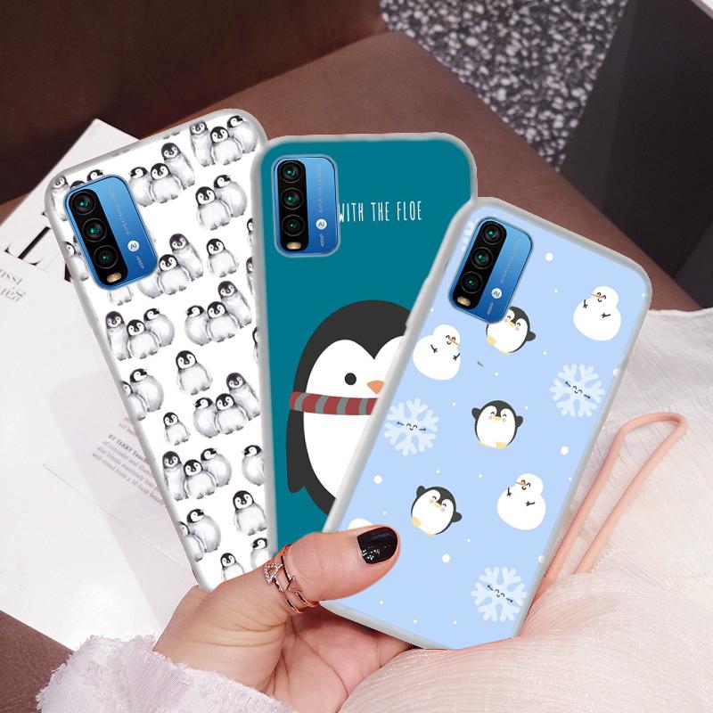 เคสมือถือแบบใสลายแพนกวินสําหรับ Huawei Nova 2i 3i 5t Y6 2018 Y6p Y7 2019 Y7a Y9 Prime 110u