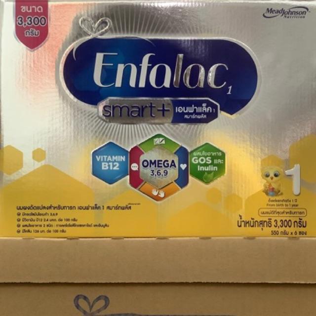 [ขายยกลัง-4กล่อง] นมผง เอนฟาแล็ค สมาร์ทพลัส สูตร 1 3300 ก ขายยกลัง Enfalac โฉมใหม่