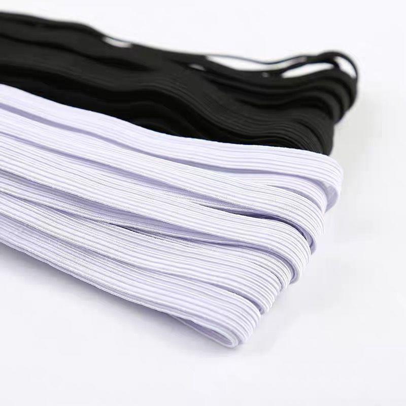 เชือกยืดหยุ่น รูปทรง สําหรับใช้ในการเล่นโยคะ ออกกําลังกาย♕☌▨แถบยางยืดบางสีดำและสีขาวแบนสูงหนาเอวสายยางยืด 0.3-5 ซม. อุปก